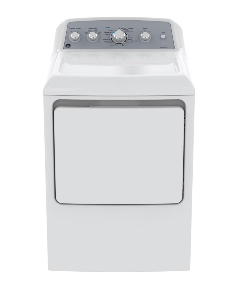 GE 7.2 IEC cu. ft. Top Load Matching Gas Dryer in White