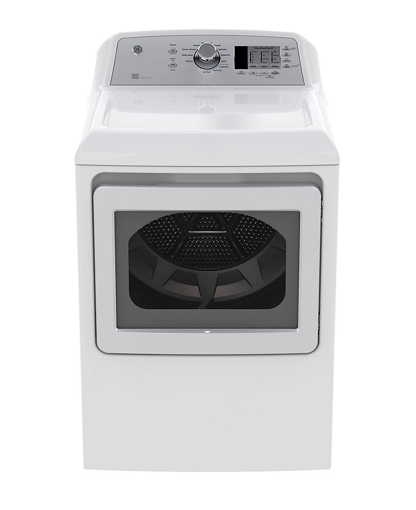 7 4 cu  ft  Front Load Electric Dryer in White