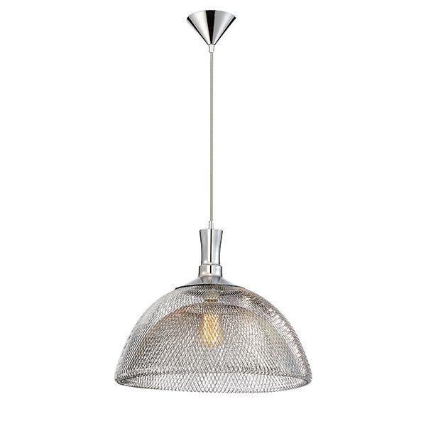 Collection Filo, grand luminaire suspendu chrome à 1ampoule