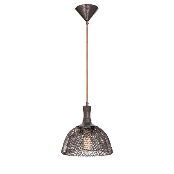 Collection Filo, luminaire suspendu moyen bronze à 1ampoule