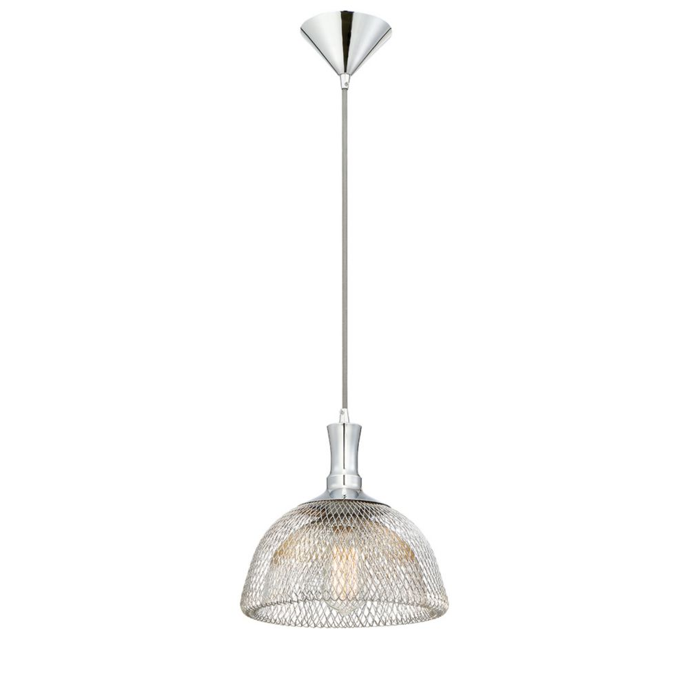 Collection Filo, luminaire suspendu moyen chrome à 1 ampoule