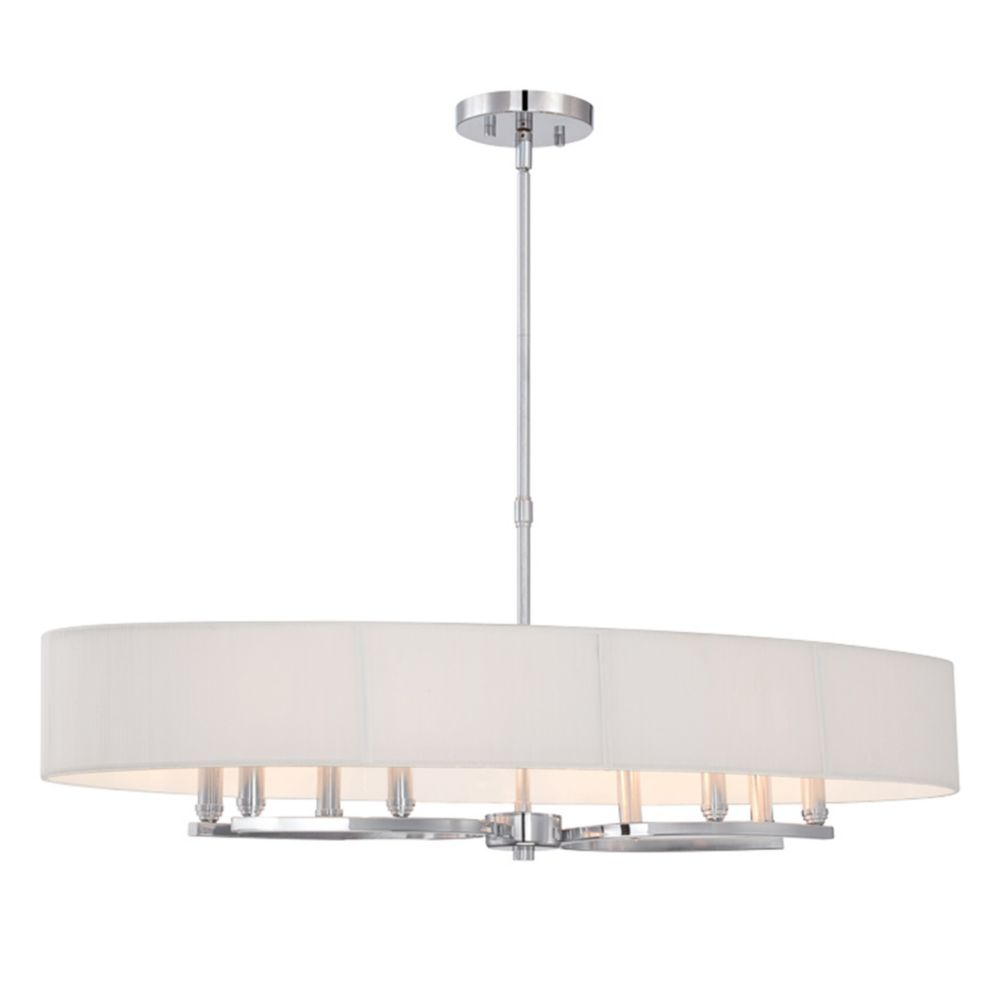 Kennedy Collection, 8-Light Oval Chrome Pendant