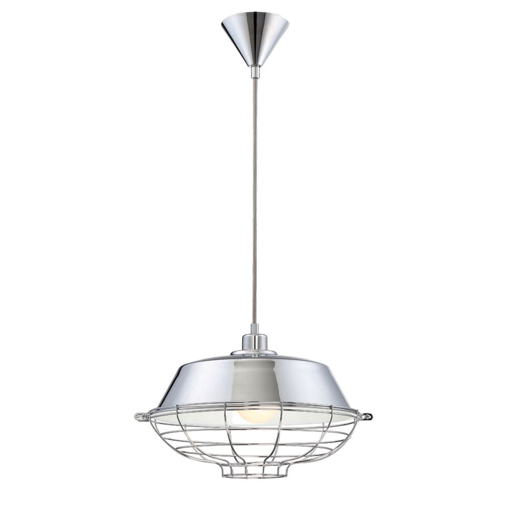 London Collection, 1-Light Chrome Pendant