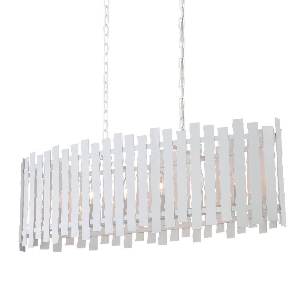 Nastro Collection, 6-Light White Pendant