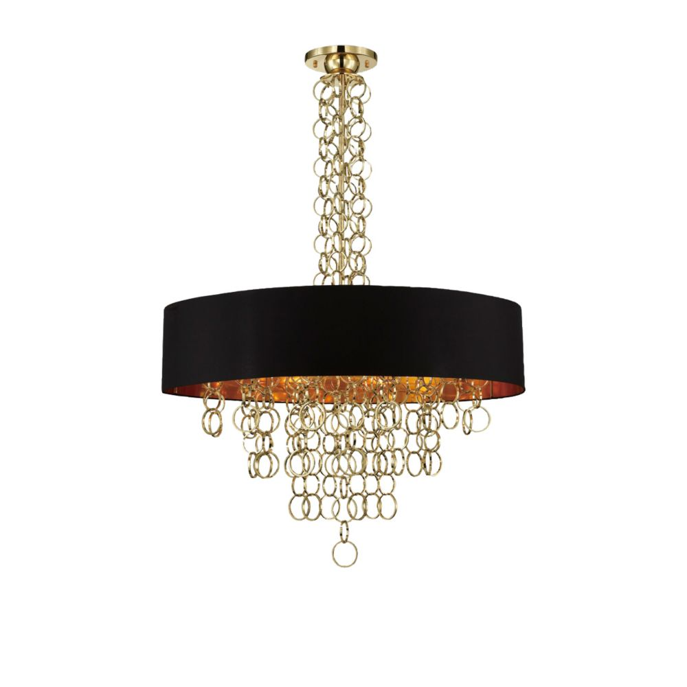 Novello Collection, 12-Light Gold Pendant