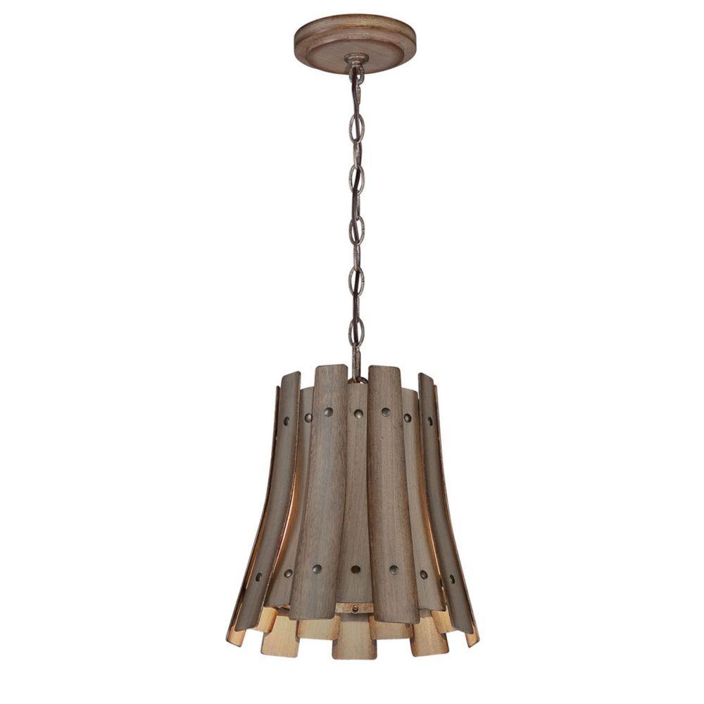 Collection Panello, luminaire suspendu en bois à 1ampoule