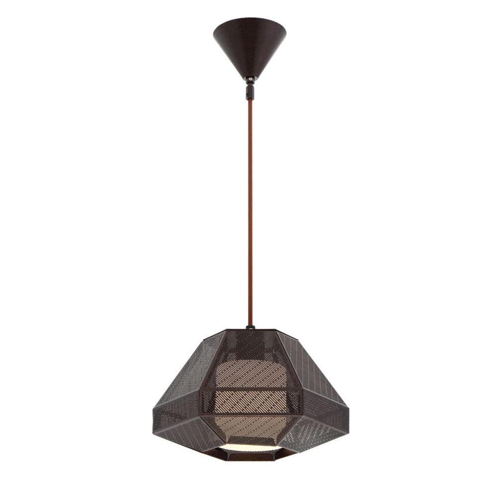 Collection Recinto, grand luminaire suspendu bronze à 1ampoule