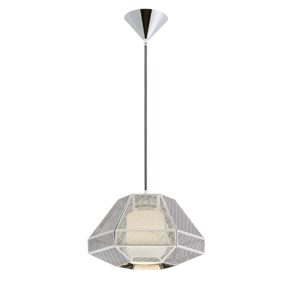 Recinto Collection, 1-Light Large Chrome Pendant