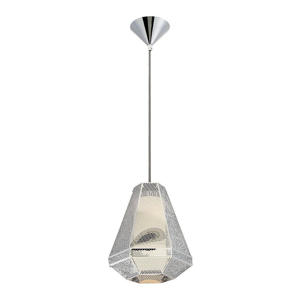 Collection Recinto, luminaire suspendu moyen chrome à 1ampoule