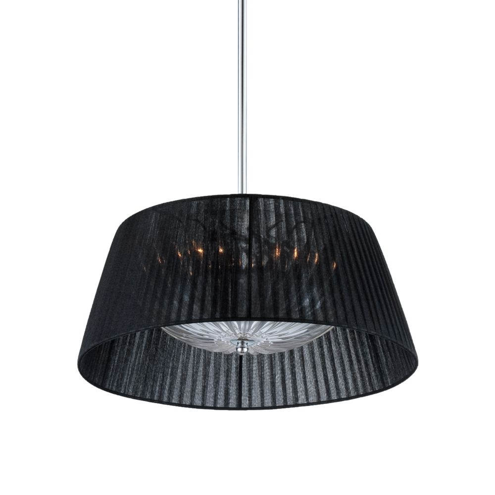 Salvo Collection, 2-Light Chrome and Black Pendant