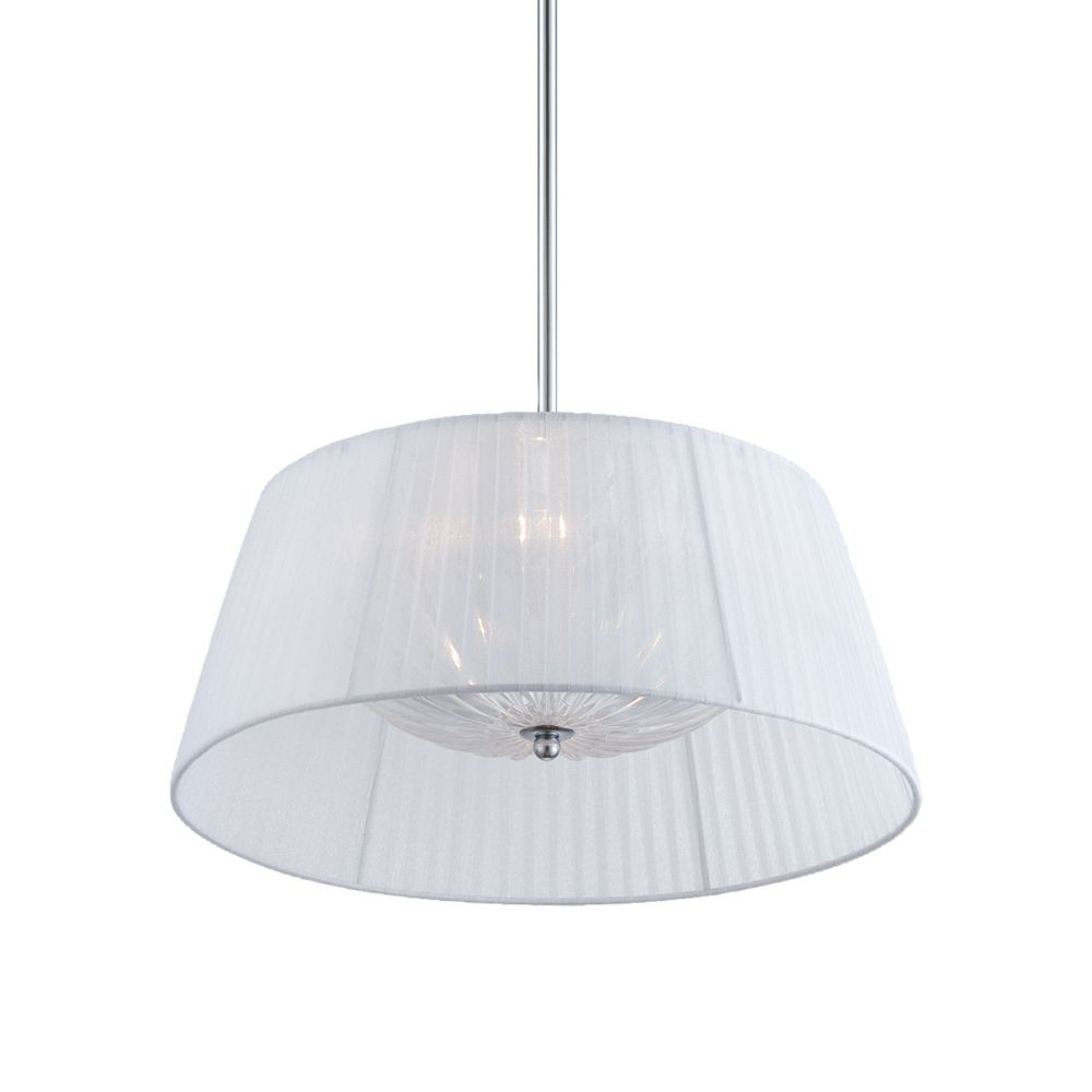 Salvo Collection, 2-Light Chrome and White Pendant