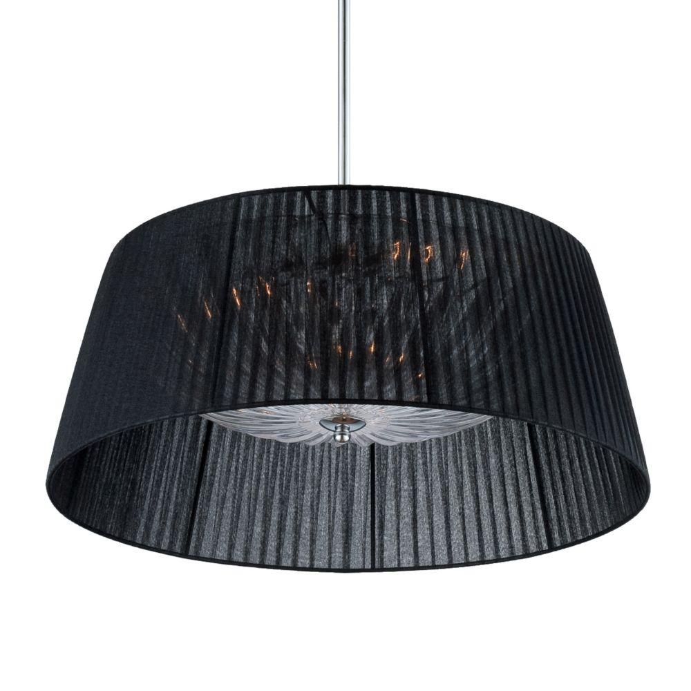 Salvo Collection, 3-Light Chrome and Black Pendant