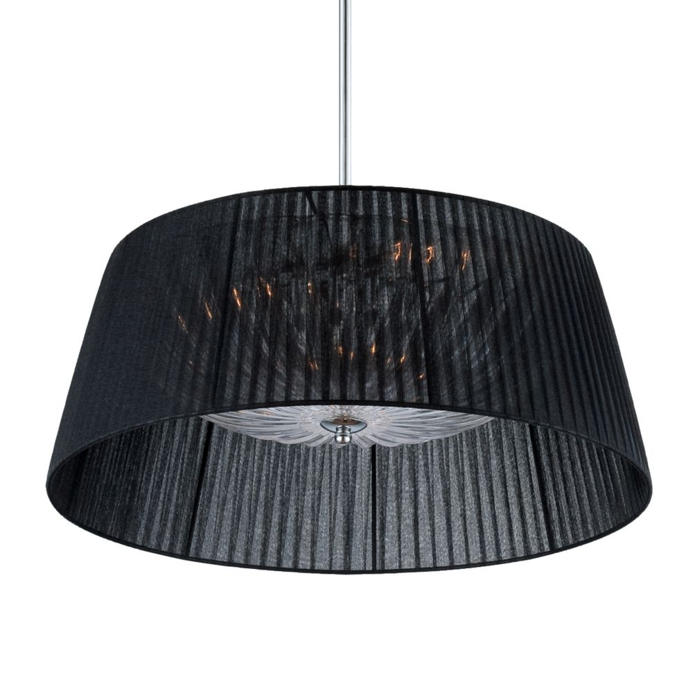 Salvo Collection, 3-Light Chrome and Black Pendant