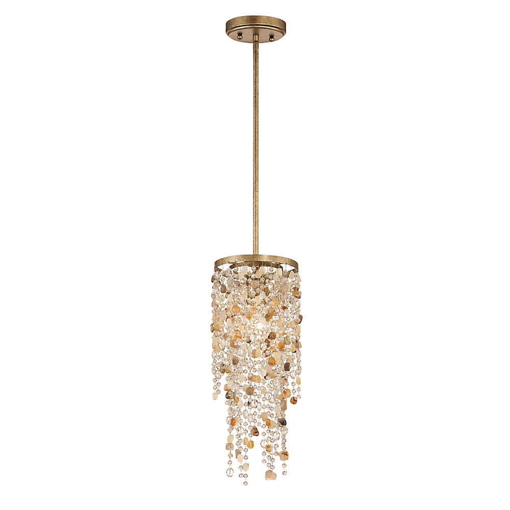 Savannah Collection, 1-Light Antique Bronze Pendant