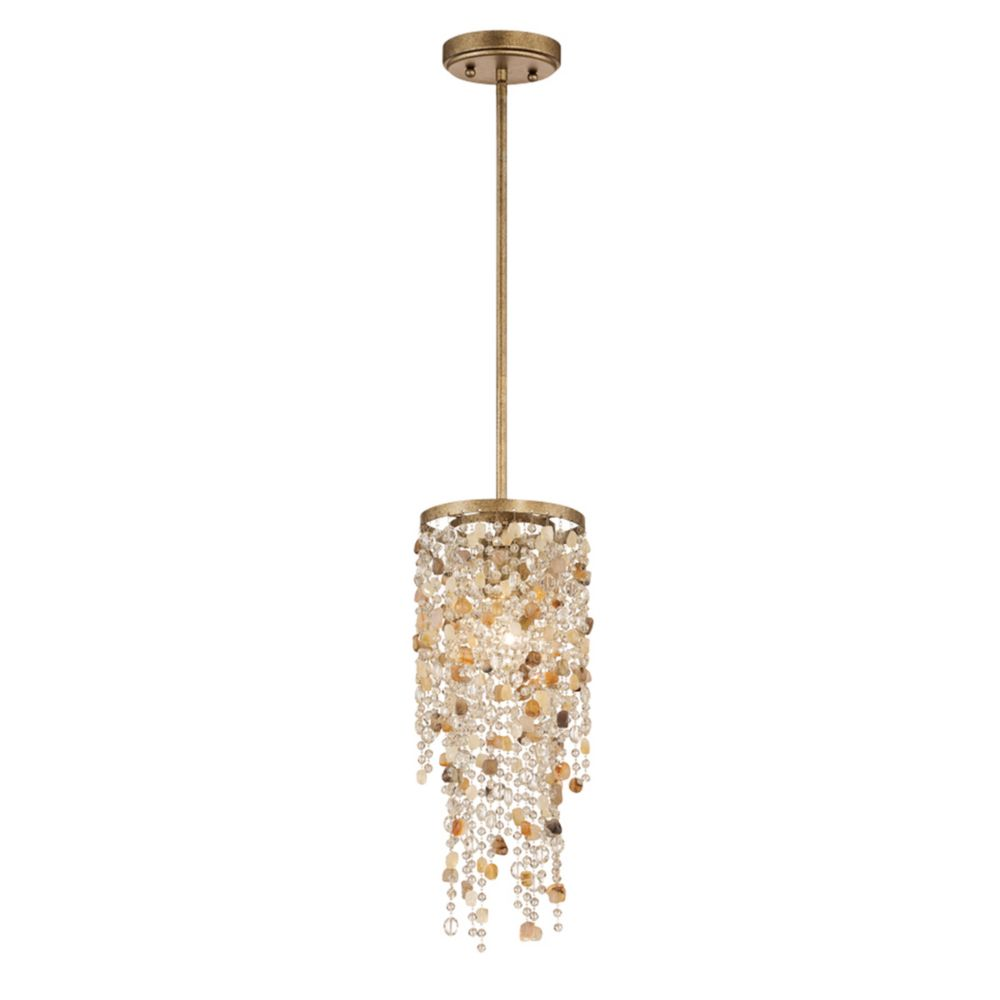 Collection Savannah, luminaire suspendu bronze antique à 1ampoule