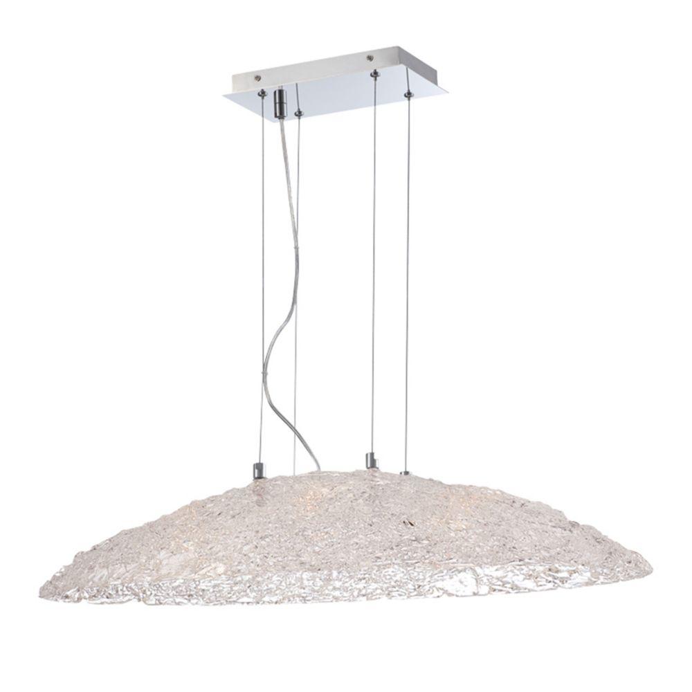 Caramico Collection, 6-Light Chrome Oval Pendant