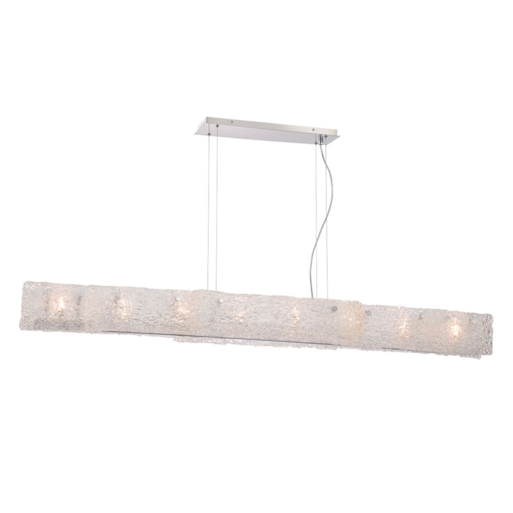 Caramico Collection, 8-Light Chrome Linear Pendant