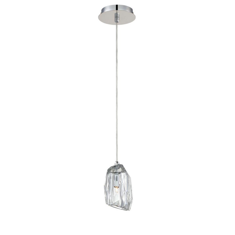Collection Diffi, luminaire suspendu chrome à 1ampoule