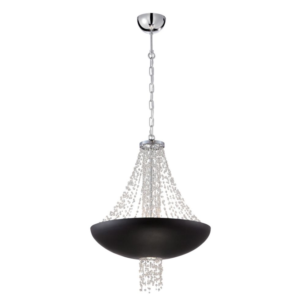Illumine Providence 2 Light Black Pendant With Clear Glass