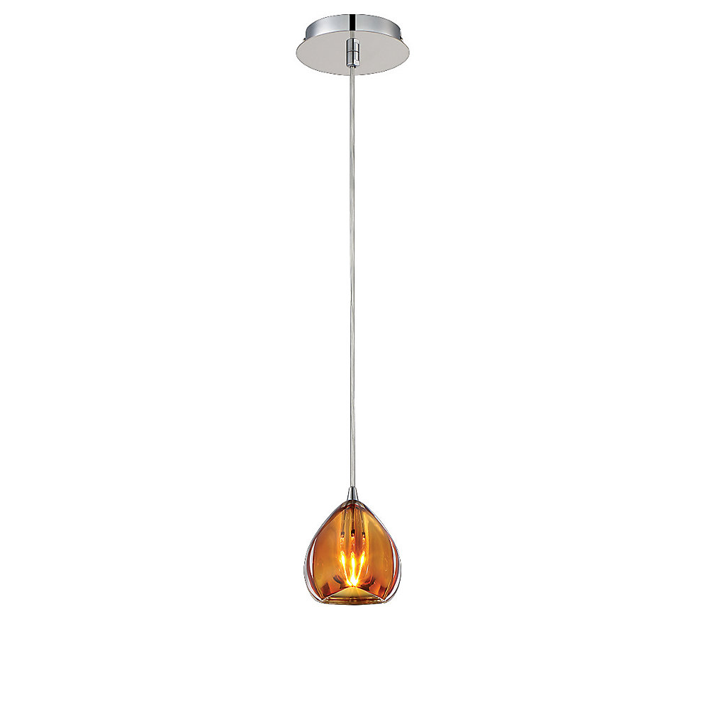 Lucido Collection, 1-Light Amber Pendant