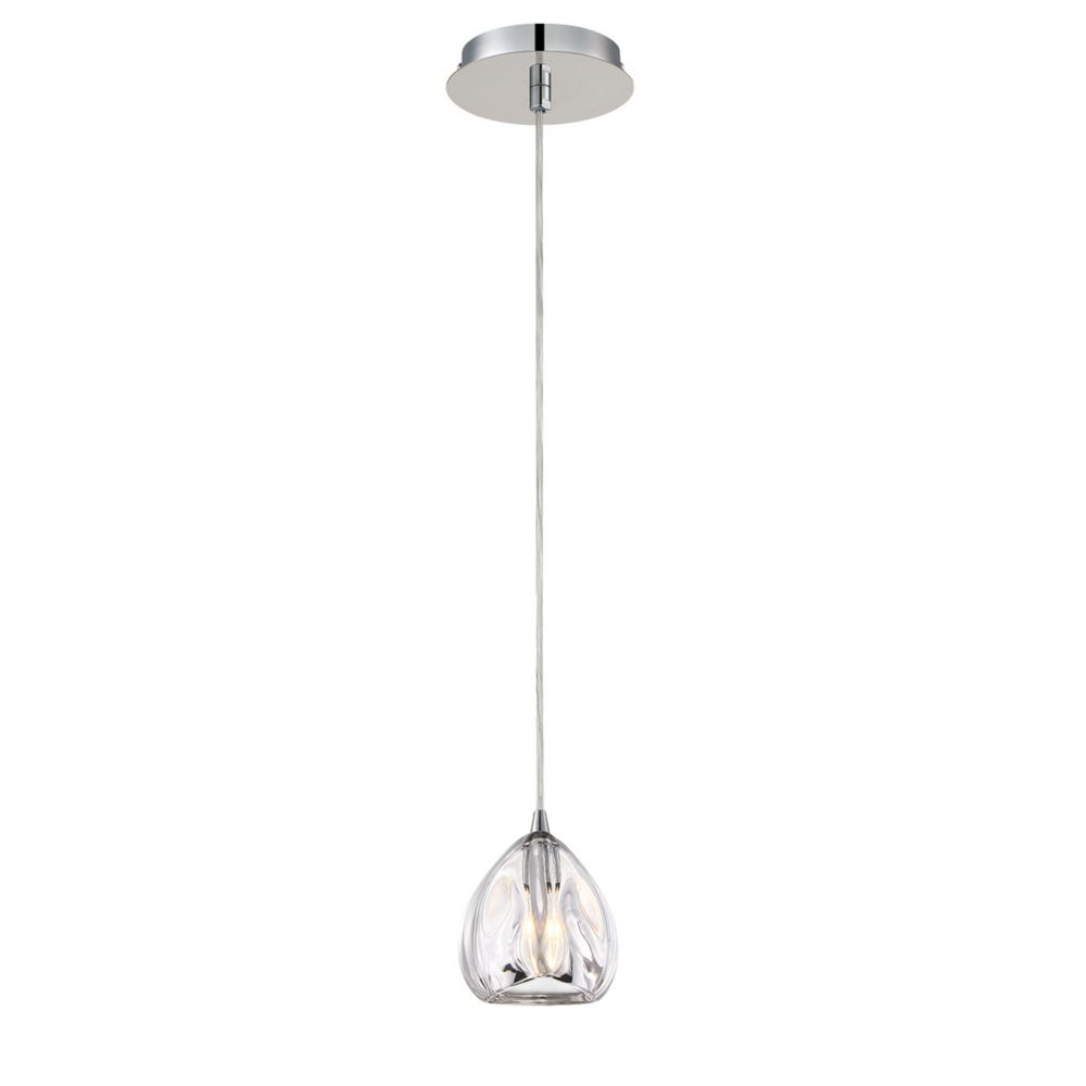 Lucido Collection, 1-Light Clear Pendant