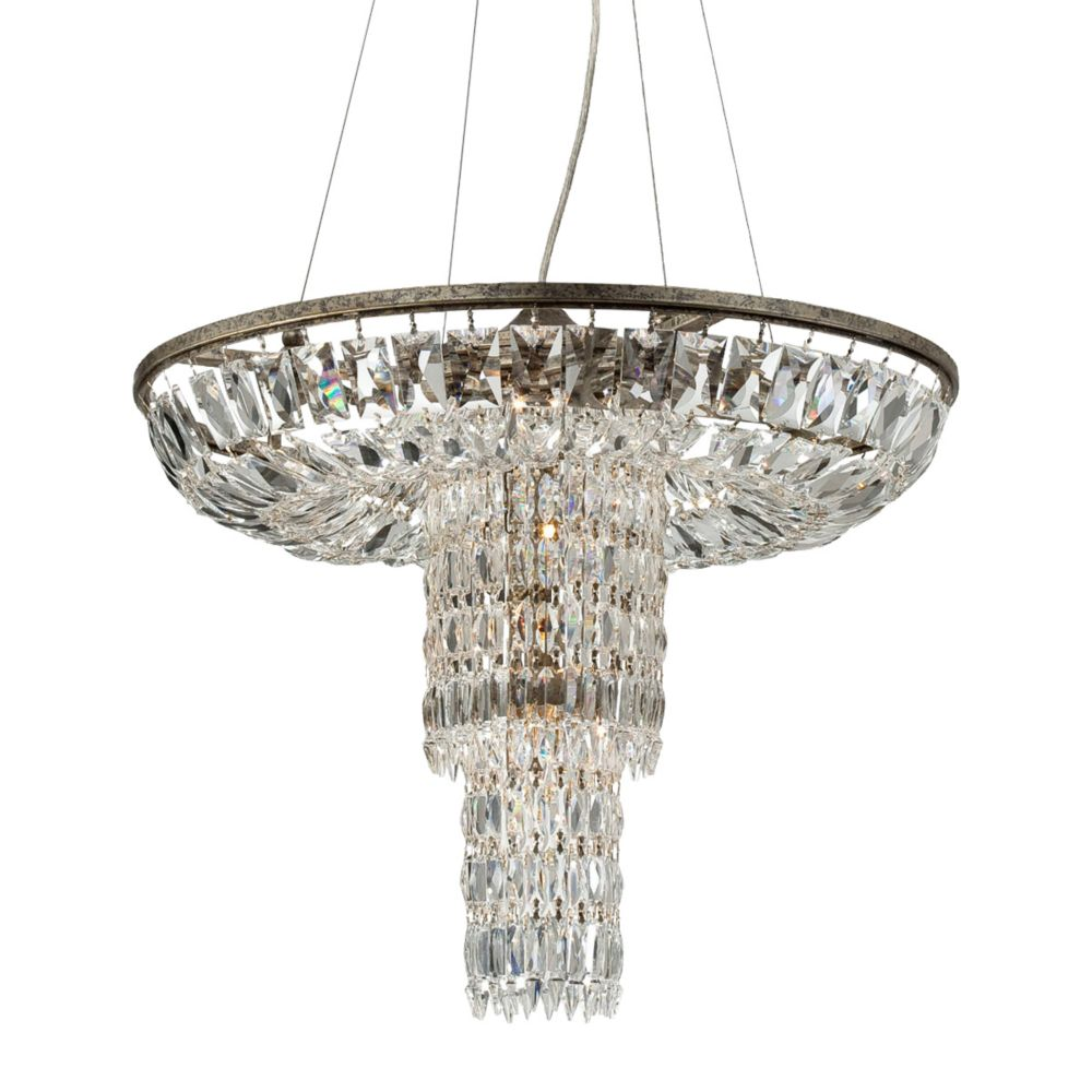 Rosalia Collection, 12-Light Silver Pendant