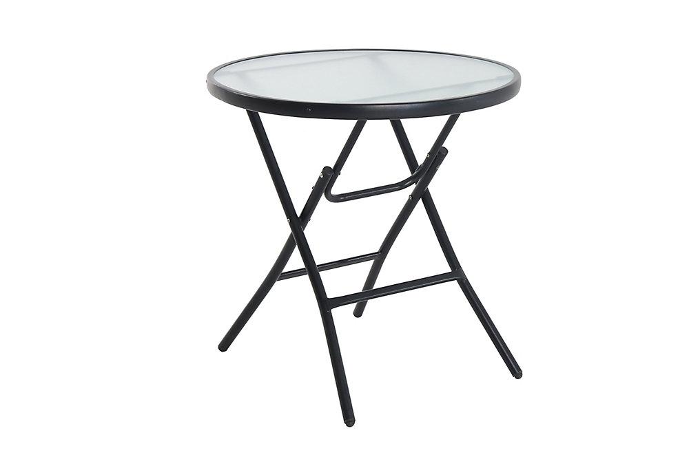 Table bistro en verre