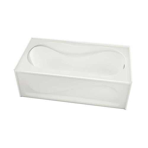 "Cocoon 60"" x 30"" IFS White Soaker Bathtub with Right Drain"