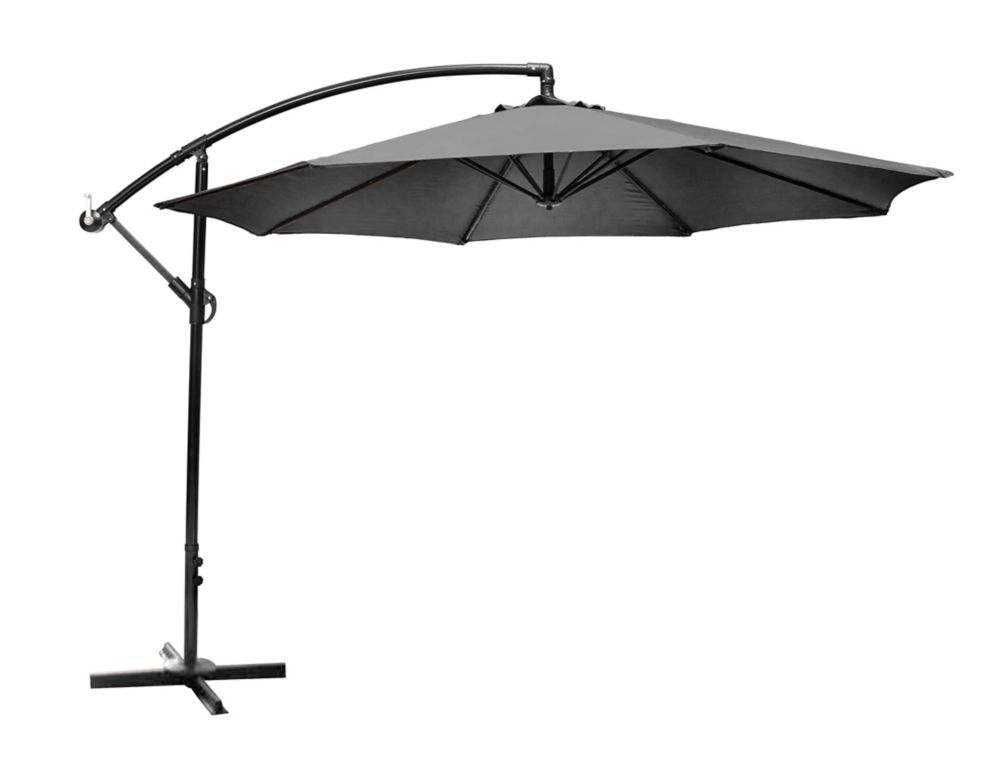 Offset Patio Umbrella With X Base In Graphite