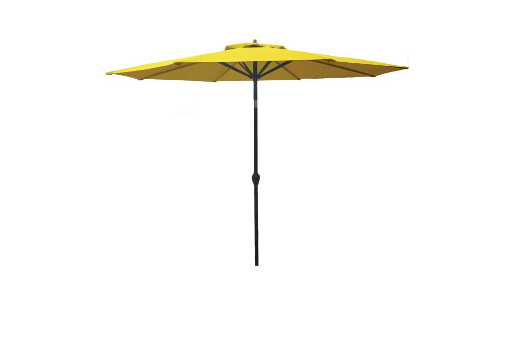 Hampton Bay 9 ft. Aluminum Market Umbrella in Yellow