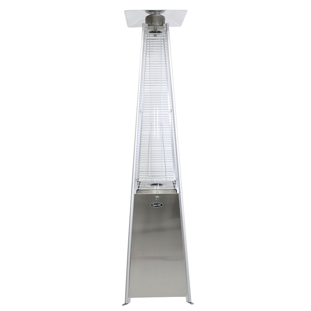 Dyna-Glo 42,000 BTU Stainless Steel Pyramid Flame Patio Heater DGPH302SS