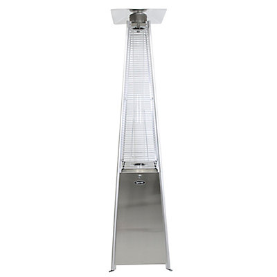 42 000 Btu Stainless Steel Pyramid Flame Patio Heater