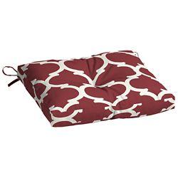 Hampton Bay 16 inch L x 18 inch W x 3.5 inch T Outdoor Bistro Seat Cushion in Frida Trellis
