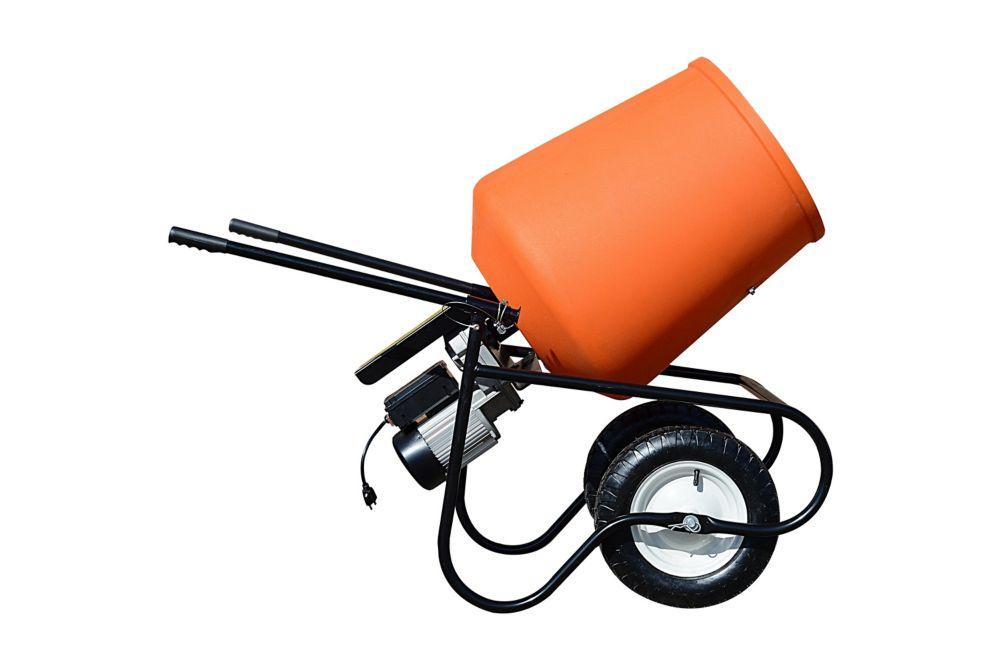 Bétonnière portative Advantage à entraînement direct de 3.5 pieds cubes (100 litre) et ¾ HP