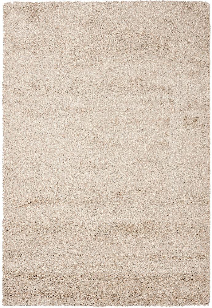 Carpette, 3 pi x 5 pi, à poils longs, rectangulaire, havane California