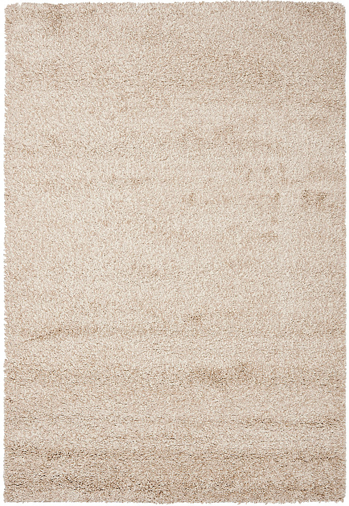 Shag Felicia Beige 4 ft. x 6 ft. Indoor Area Rug
