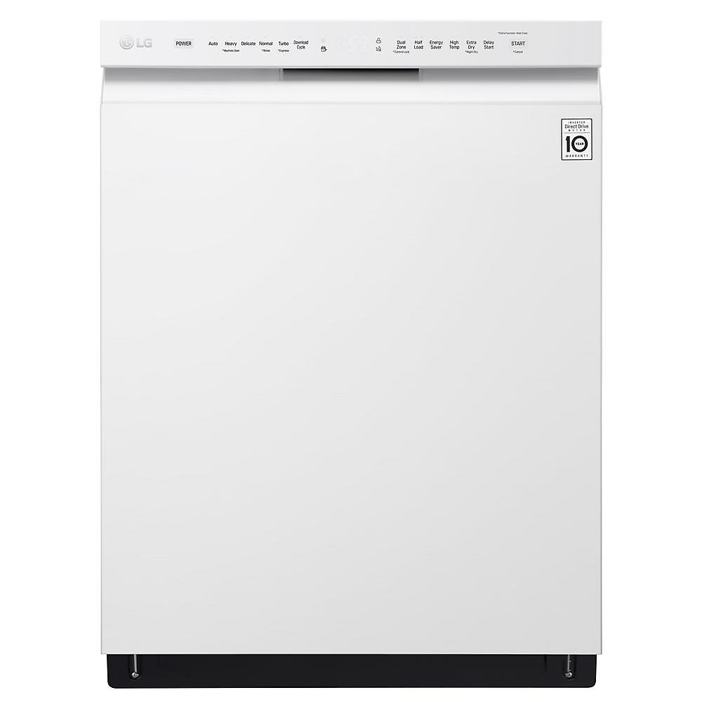 24-inch Front Control Dishwasher with QuadWash in White - ENERGY STAR®