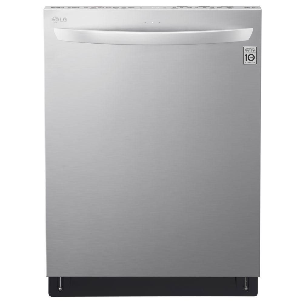 24-inch Top-Control Dishwasher with QuadWash in Stainless Steel