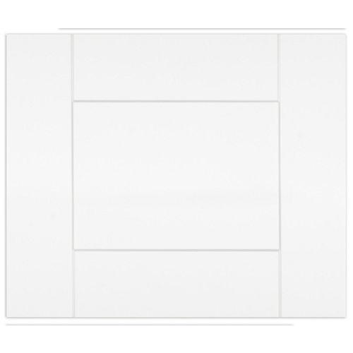 """Eurostyle Oxford - Façade Tiroir - 18""""x15"""" - Thermoplastique blanc mat"""