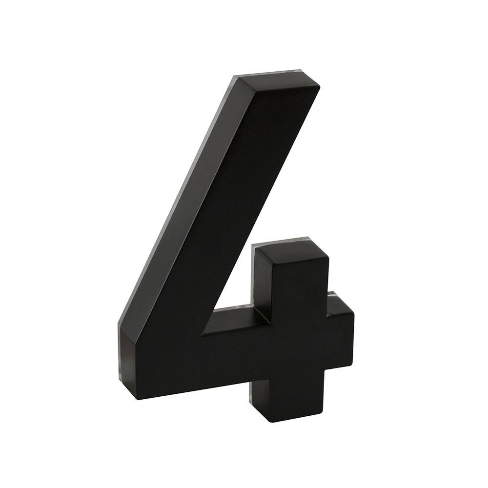 Taymor Backlit LED 6-inch Black Metal House Number with Floating Effect
