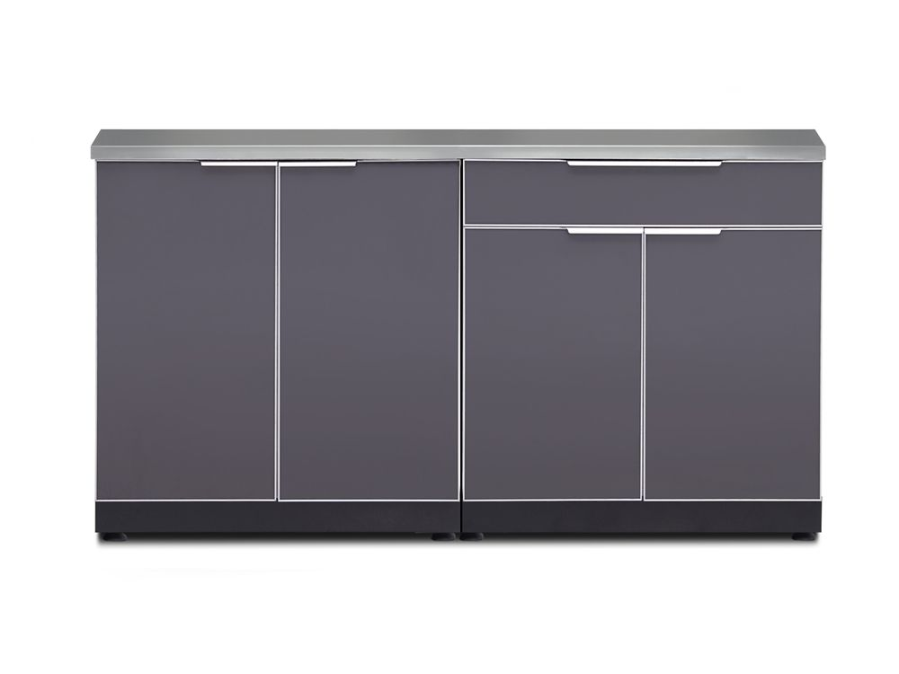 NewAge Products Outdoor Kitchen 64In W x 24In D 3 PC Aluminum Slate