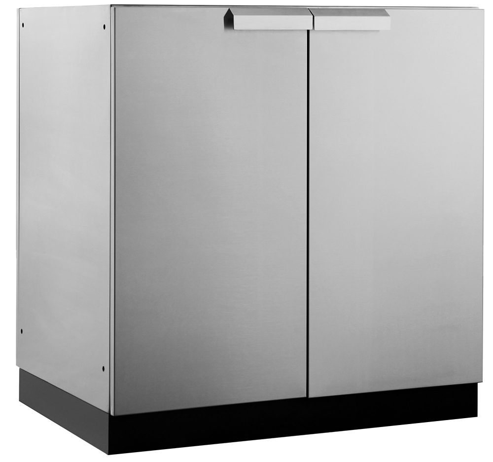 NewAge Products Classic 2-Door Stainless Steel Outdoor Kitchen Cabinet