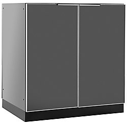 NewAge Products Inc. Aluminum Slate 32-inch 2 Door Base 32x35x24-inch Outdoor Kitchen Cabinet