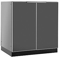 Aluminum Slate 32-inch 2 Door Base 32x35x24-inch Outdoor Kitchen Cabinet