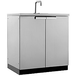 NewAge Products Inc. NewAge Products Cuisine extérieure 32po (L) x 24po (l) Armoire évier Acier inoxydable Classique