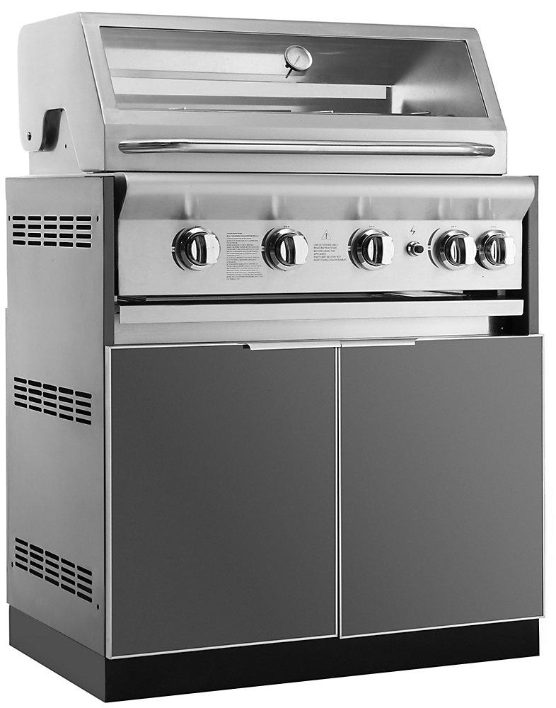 NewAge Products Cuisine extérieure 33po (L) x 23po (l) Armoire insert grille Plaque en aluminium