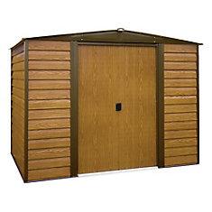 Woodridge,3x1,8, acier électrogalvanisé, couleur café / grain de bois, versant bas