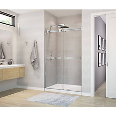 Duel Frameless Sliding Shower Door 44 to 47  Inch  x 70.5  Inch  Chrome