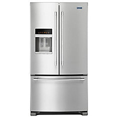 36-inch W 25 cu. ft. French Door Refrigerator in Fingerprint Resistant Stainless Steel - ENERGY STAR®