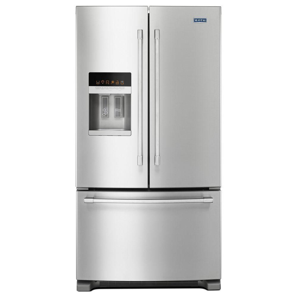 refrigerator canada home refrigerators depot the en steel appliances ice and in door french p water categories fridges with dispenser stainless